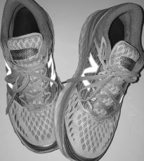 b&w running shoes
